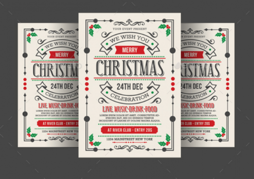 vintage_style_and_unique_christmas_flyer_poster_invitation_design_for_your_next_party