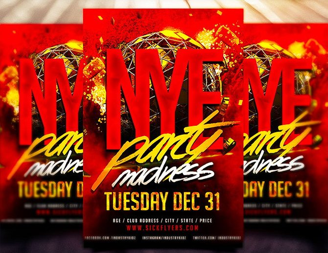 nye_party_madness_free_flyer_template