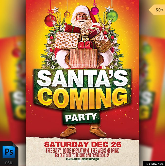 santas_coming_party_flyer_template