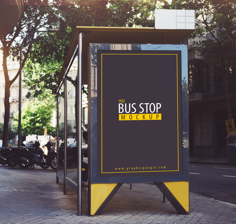 free_bus_stop_mockup