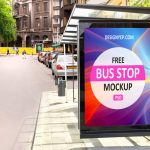 28 Awesome Free Bus Shelter / Bus Stop PSD Mockups