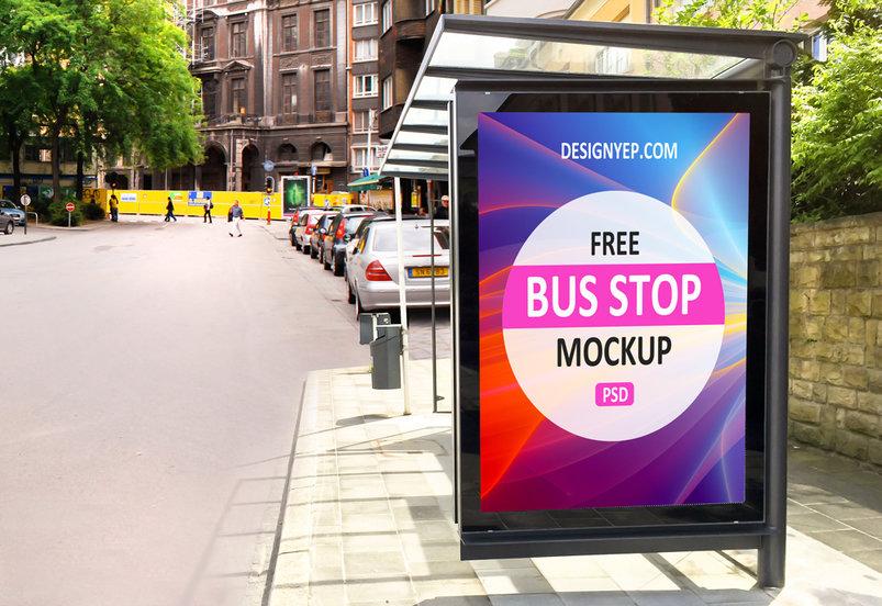 free_bus_stop_psd_mockup