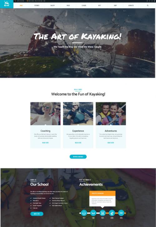 kayaking_sports_outdoors_word_press_theme
