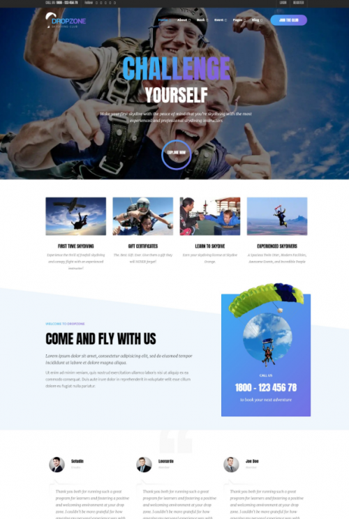 dropzone_skydiving_word_press_theme