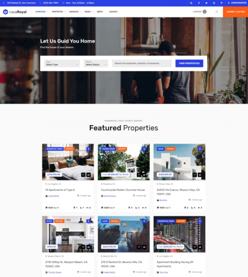 Rental Property Search Engine: 18+ Responsive Real Estate WordPress Themes For 2019