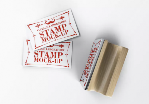 stamp_business_card_mock_up