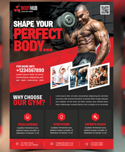 Fitness Gym Flyer PSD Templates