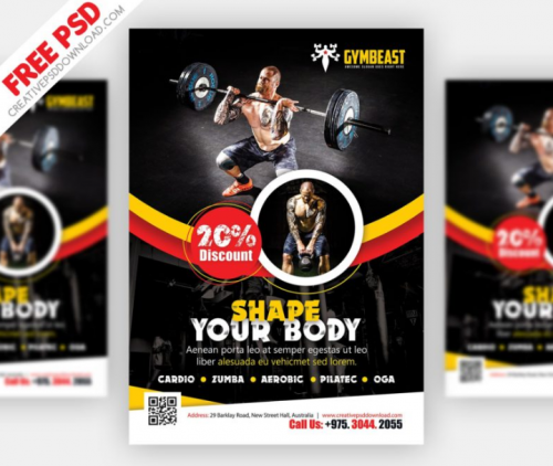 gymbeast_fitness_flyer_free_psd