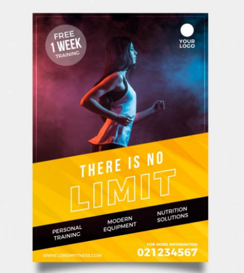 modern_gym_flyer_template_with_image_free_vector