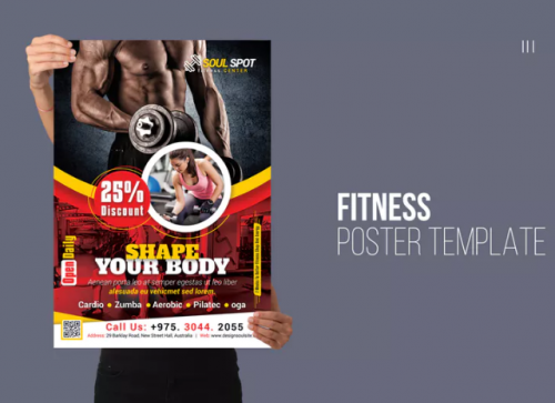 soul_sport_fitness_poster_template