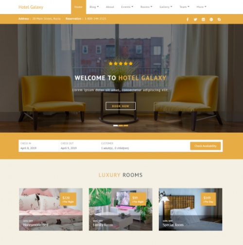 free_hotel_galaxy_theme