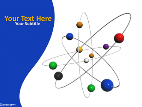 free_3d_atom_power_point_template