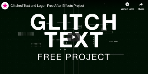 glitch_text_free_after_effects_template