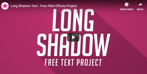 free_long_shadow_text_after_effects_project