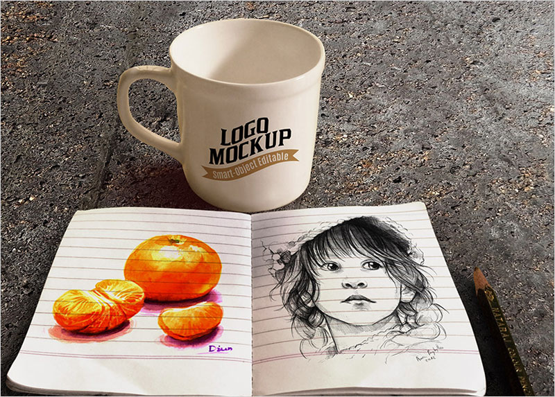 coffee_cup_and_sketchbook_mockup