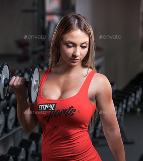 female_fitness_gym_tank_top_t_shirt_mockup