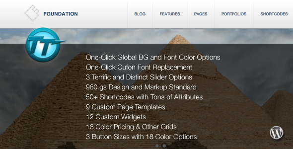 Foundation WordPress Theme - ThemeForest Item for Sale