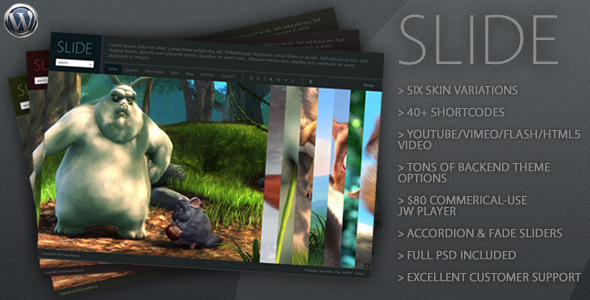 Slide - The Wide WordPress Theme - ThemeForest Item for Sale