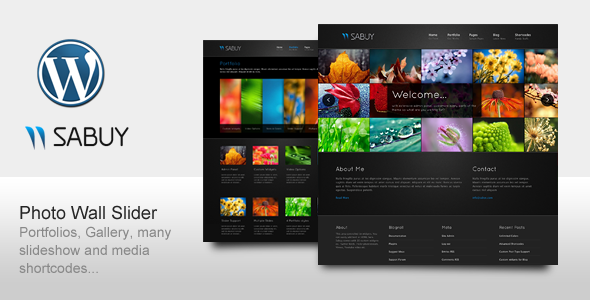Sabuy - Premium Template for Portfolio Photography - ThemeForest Item for Sale