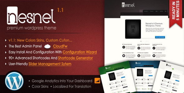 Nesnel - Premium WordPress Theme - ThemeForest Item for Sale