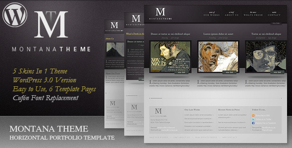 Montana Theme - WP Horizontal Portfolio Theme - ThemeForest Item for Sale