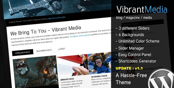 Vibrant Media - The Hassle Free all-use Theme - ThemeForest Item for Sale