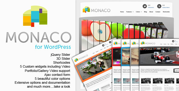 Monaco - Professional WordPress Theme - ThemeForest Item for Sale