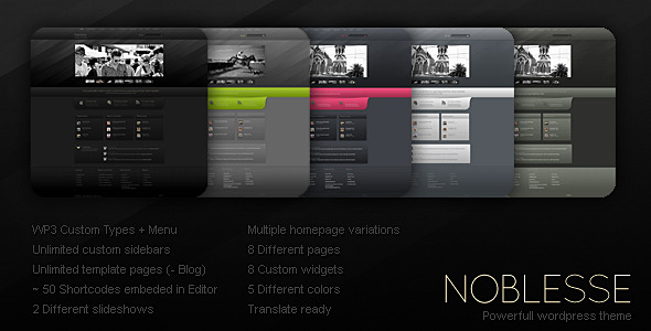 Noblesse - ThemeForest Item for Sale