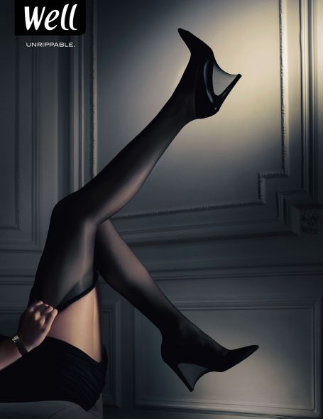 Well Stockings: Unrippable - Creative Print Advertisements