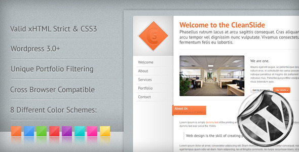 CleanSlide: A Premium Clean WordPress Theme - ThemeForest Item for Sale