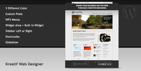Kreatif Web Designer - ThemeForest Item for Sale