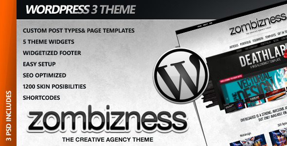 Zombizness WordPress Premium Business Theme - ThemeForest Item for Sale