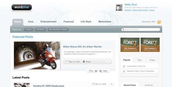 Wordzine Community and Magazine Theme Download