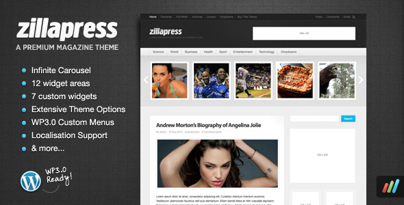 ZillaPress - WordPress Magazine / Community Theme Download