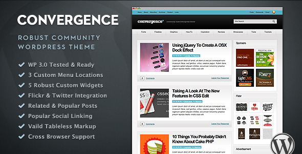Convergence - Community WordPress Theme Download
