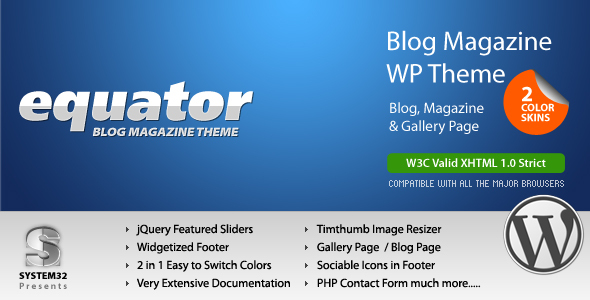 eQuator - Global Community WordPress Theme Download