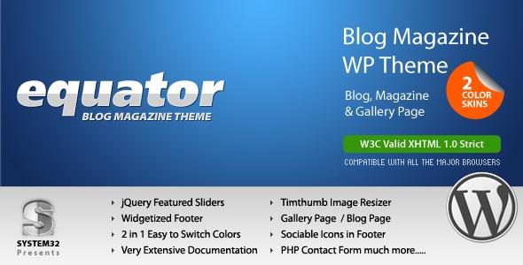 eQuator - Global Community WordPress Theme Download