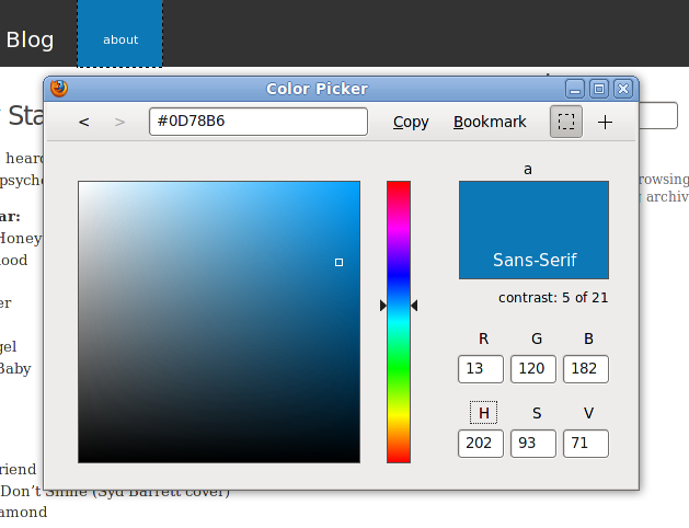 top 5 color picker tools firefox addons ginva. Black Bedroom Furniture Sets. Home Design Ideas