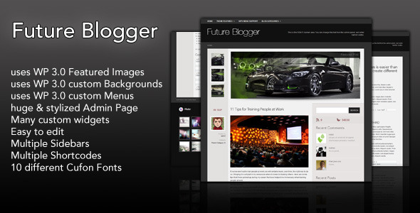 Future Blogger Community Theme Download