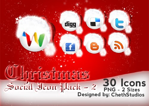 Christmas Special Social Networking Icons - 2