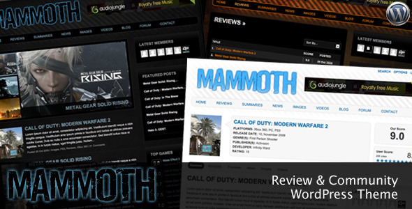 Mammoth - Review & Community WordPress Theme Download