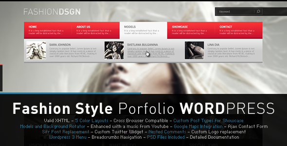 Fashion Design WordPress Theme