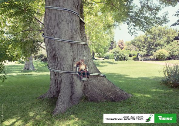 Viking: Squirrel - Creative Print Advertisements