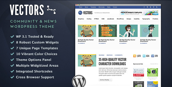 Vectors - Community WordPress Theme