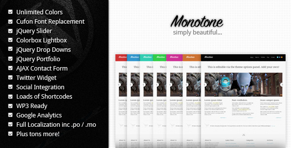 Mono-tone WordPress Theme