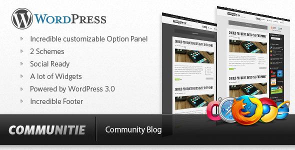 Communitie - WordPress Blog Download