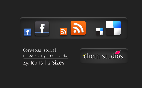 Gorgeous free Mini Social Networking Icon set download