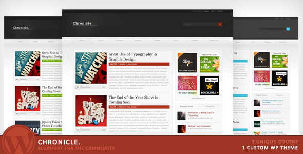 33 great community wordpress theme ginva chronicle blueprint for the community download malvernweather Gallery