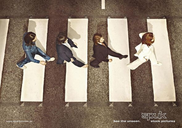 Spuk Pictures: Beatles - Creative Print Advertisements
