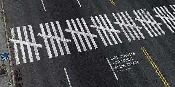 Road safety Program - Creative Print Advertisements
